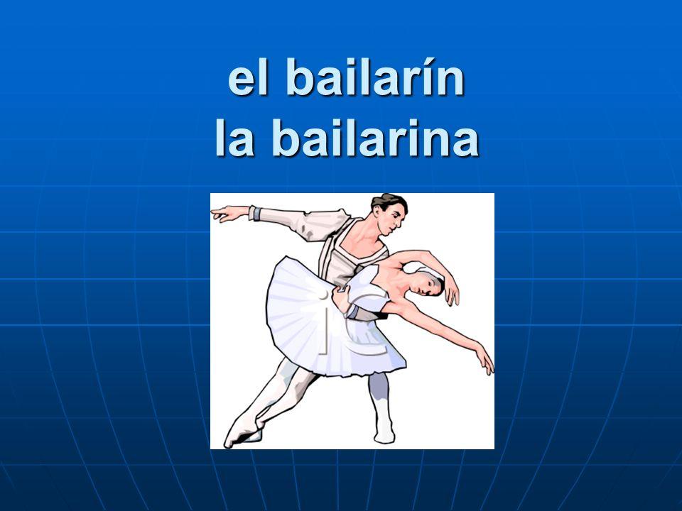 el bailarín la bailarina