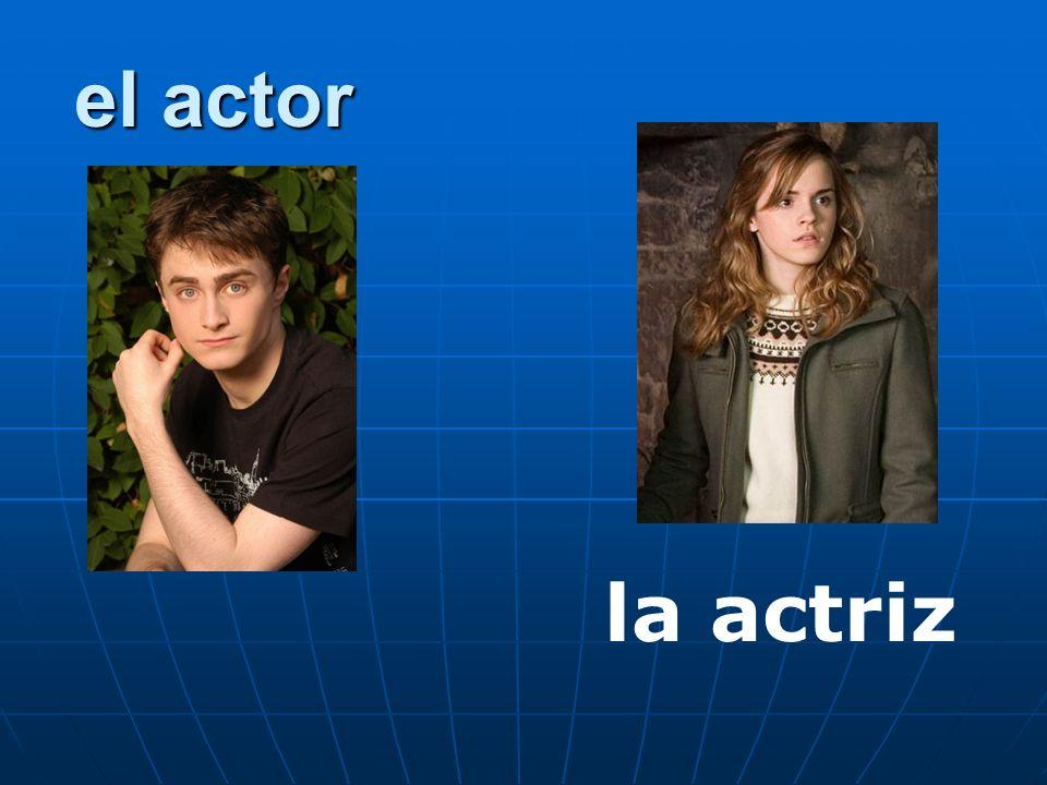 el actor la actriz