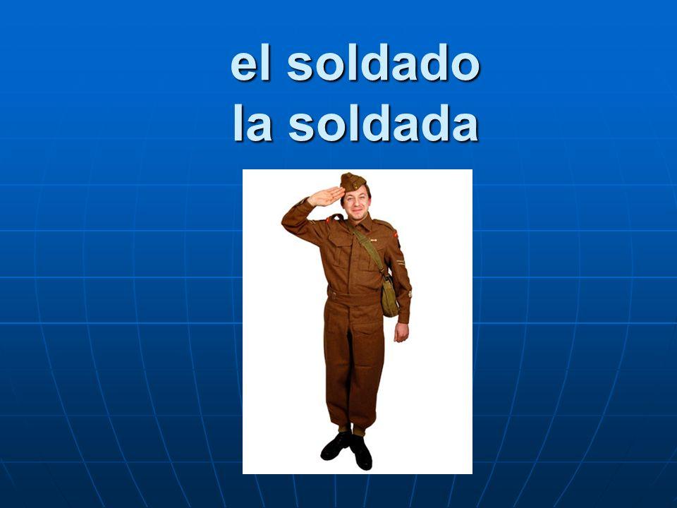 el soldado la soldada