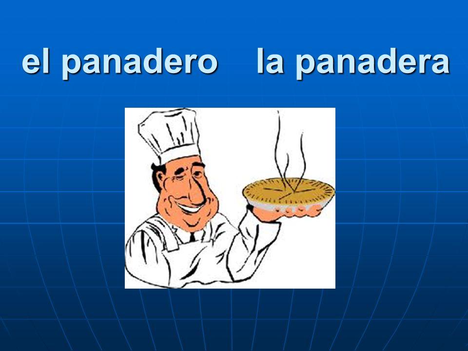 el panadero la panadera