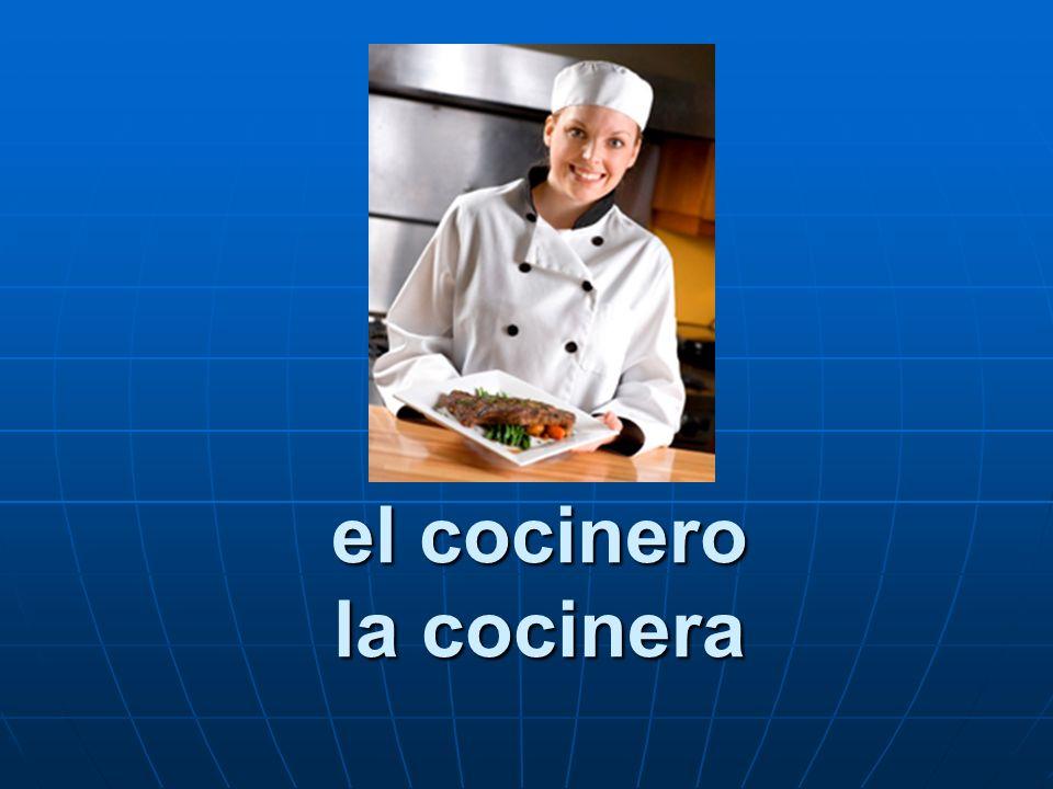 el cocinero la cocinera