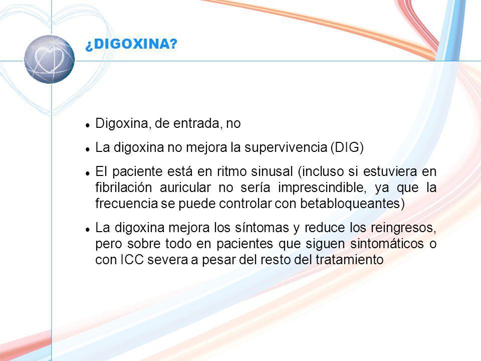 La digoxina no mejora la supervivencia (DIG)