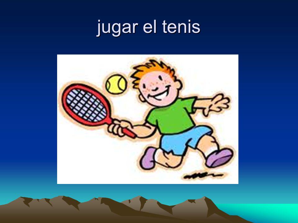 jugar el tenis