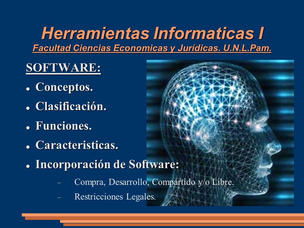 Herramientas Informaticas I Facultad Ciencias Economicas y Jurídicas. U.N.L.Pam.