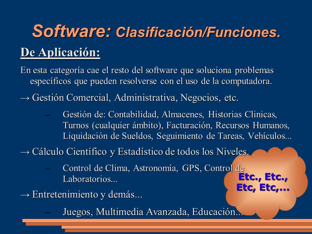 Software: Clasificación/Funciones.