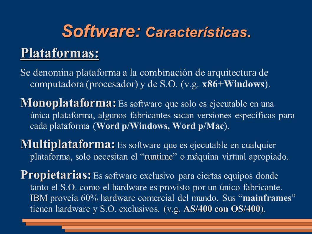 Software: Características.