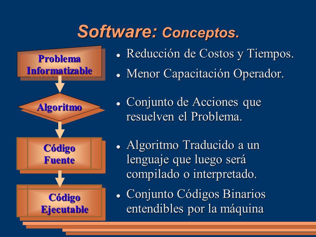 Software: Conceptos. Reducción de Costos y Tiempos.