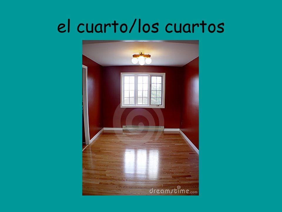 el cuarto/los cuartos
