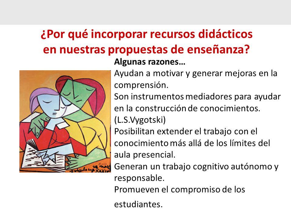 ¿Por qué incorporar recursos didácticos en nuestras propuestas de enseñanza