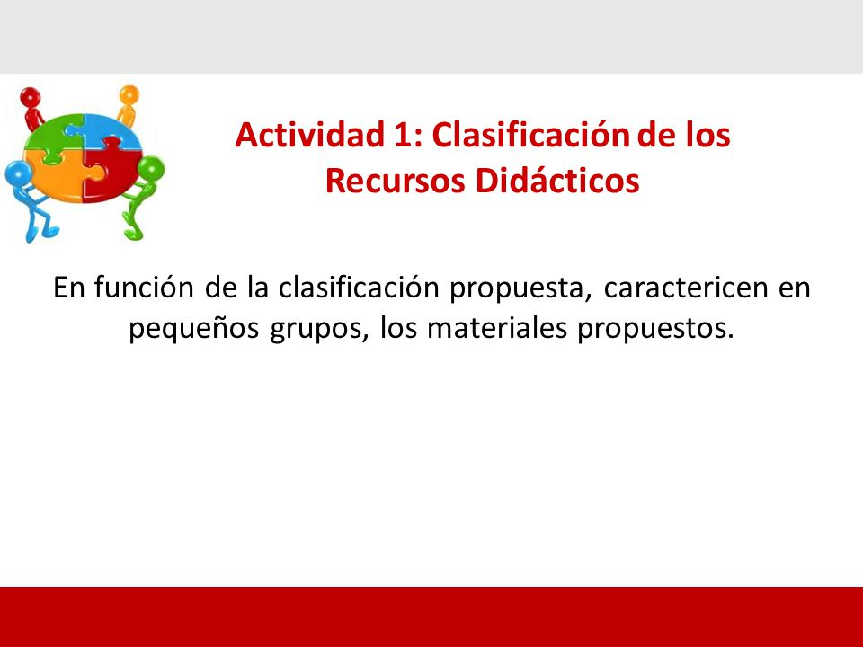 Actividad 1: Clasificación de los Recursos Didácticos