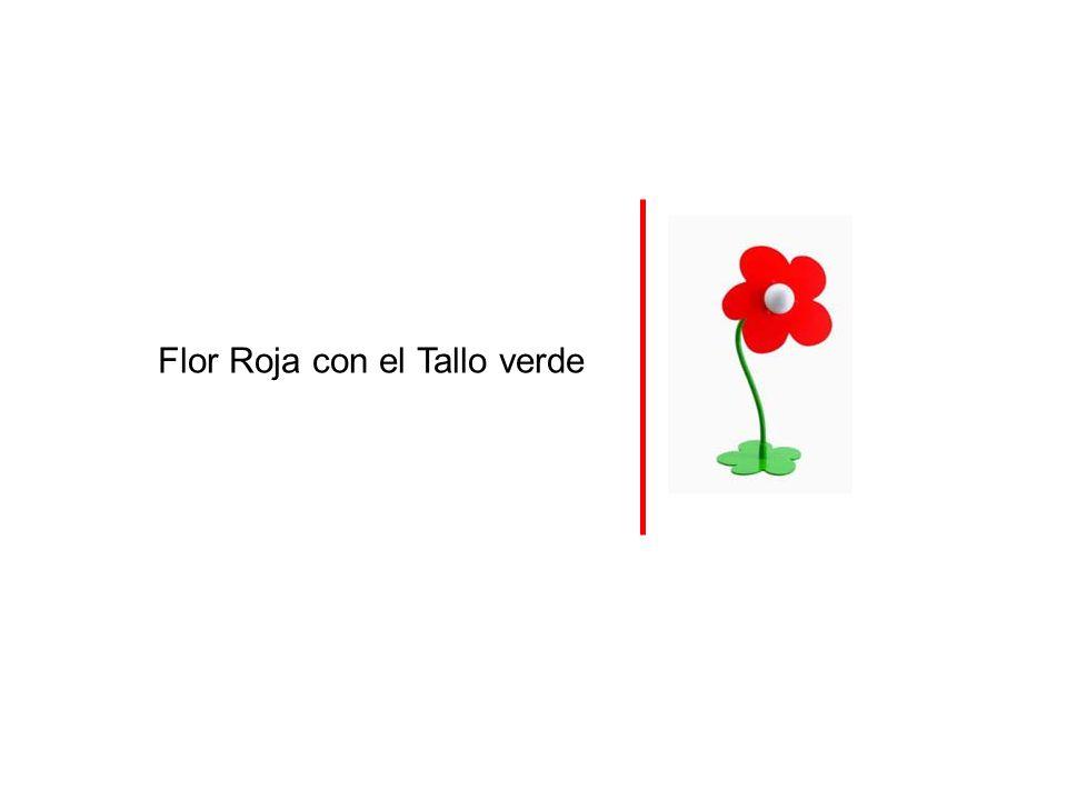 Flor Roja con el Tallo verde