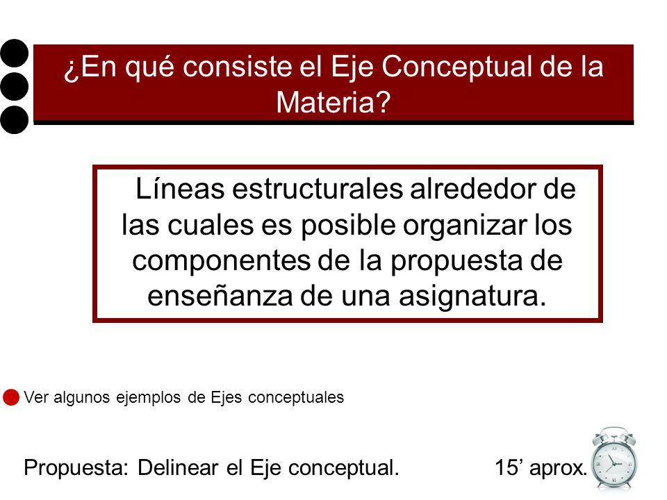 ¿En qué consiste el Eje Conceptual de la Materia