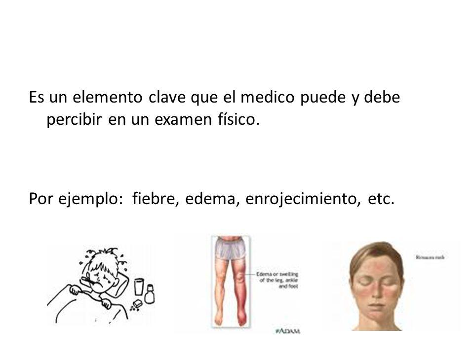 Es un elemento clave que el medico puede y debe percibir en un examen físico.