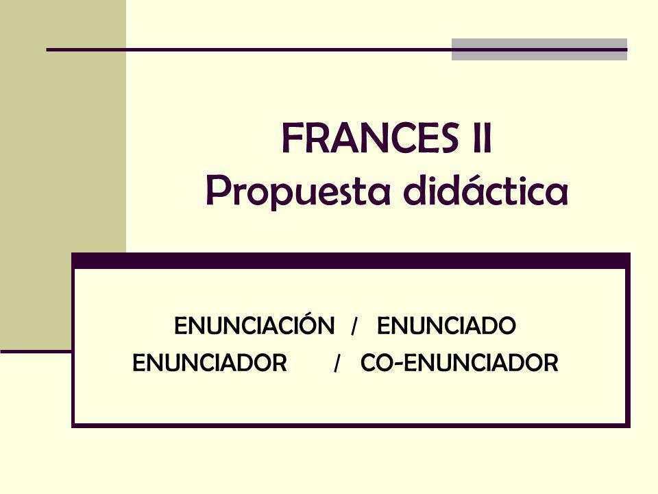 FRANCES II Propuesta didáctica