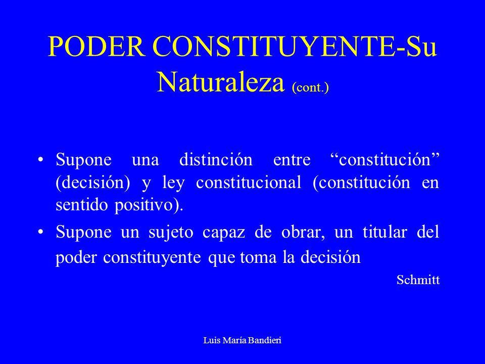 PODER CONSTITUYENTE-Su Naturaleza (cont.)