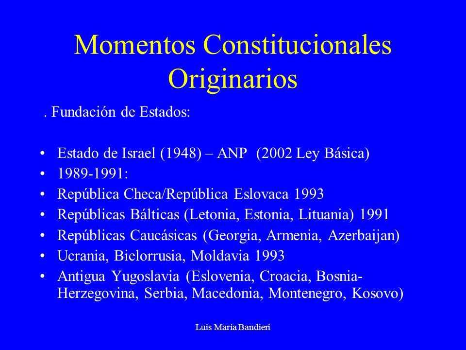 Momentos Constitucionales Originarios