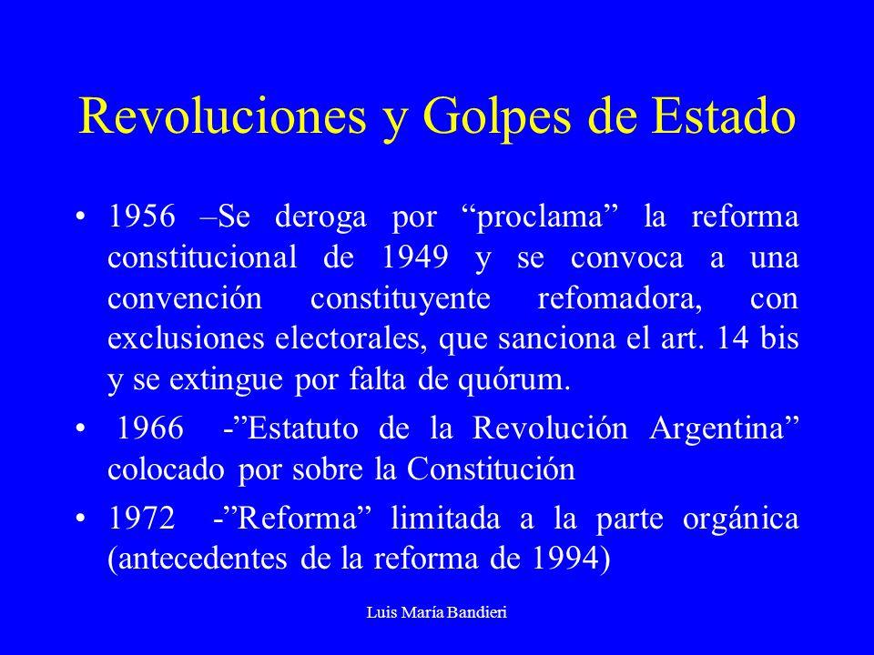 Revoluciones y Golpes de Estado