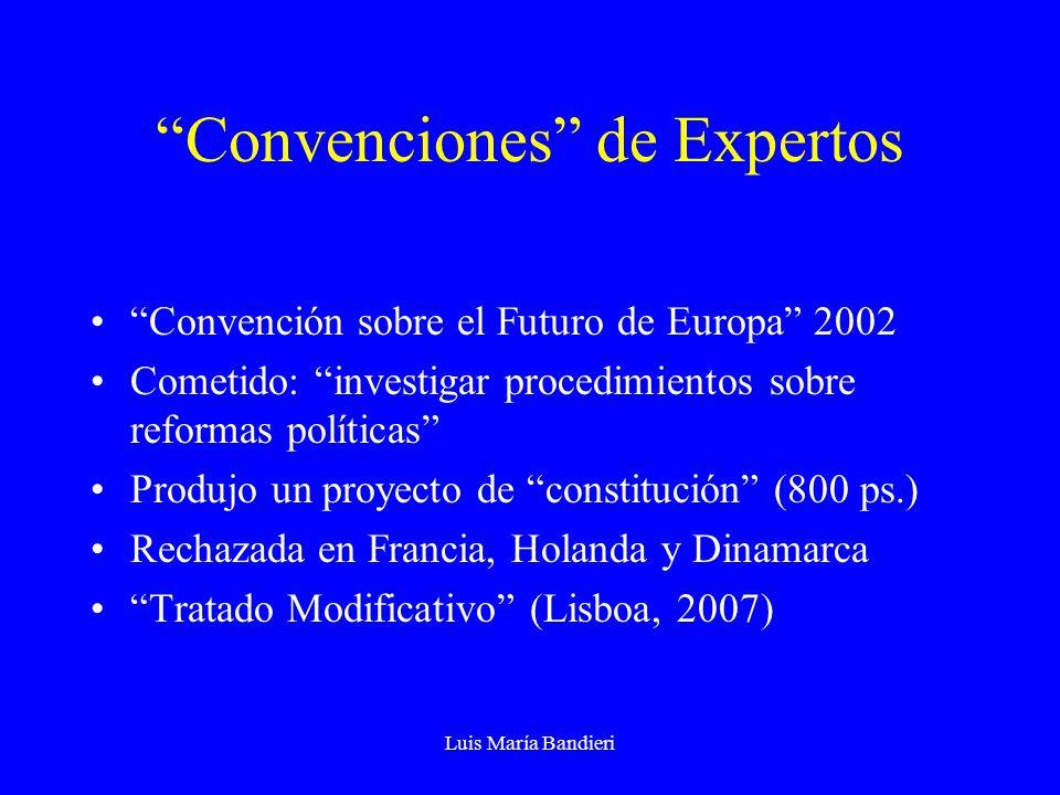 Convenciones de Expertos