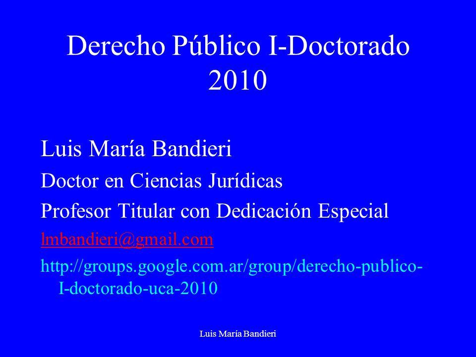 Derecho Público I-Doctorado 2010