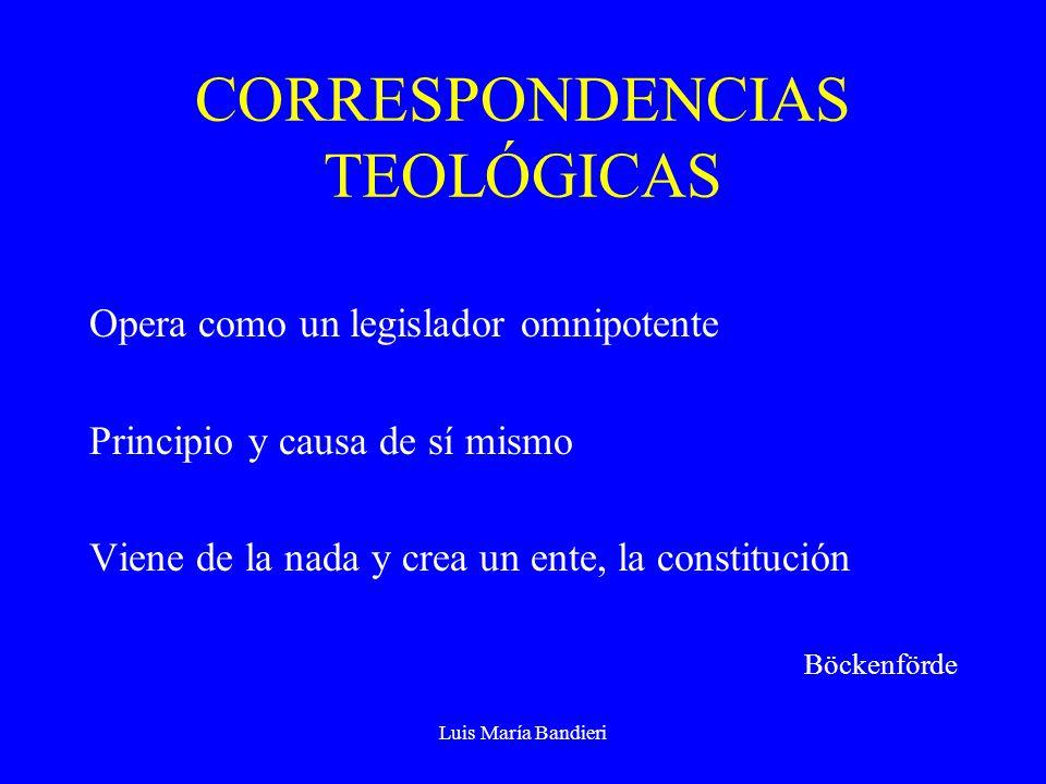 CORRESPONDENCIAS TEOLÓGICAS