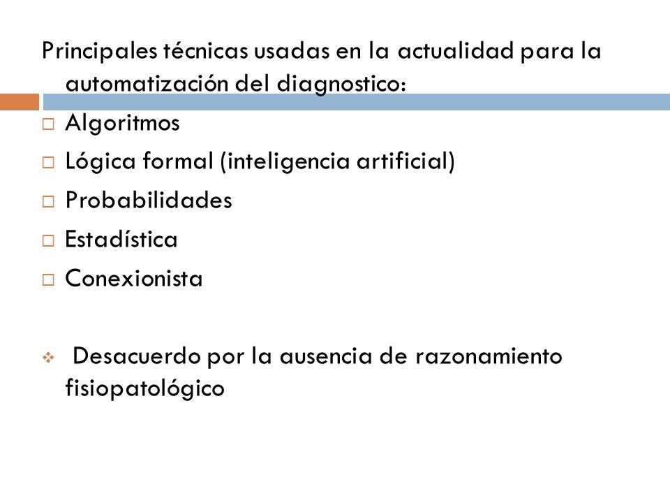 Principales técnicas usadas en la actualidad para la automatización del diagnostico: