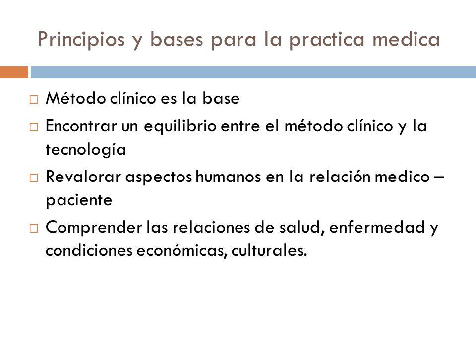 Principios y bases para la practica medica
