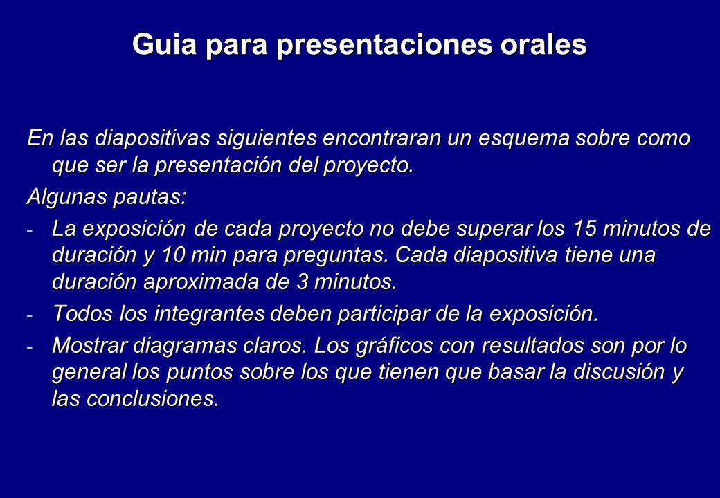 Guia para presentaciones orales