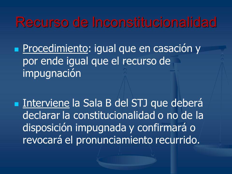 Recurso de Inconstitucionalidad