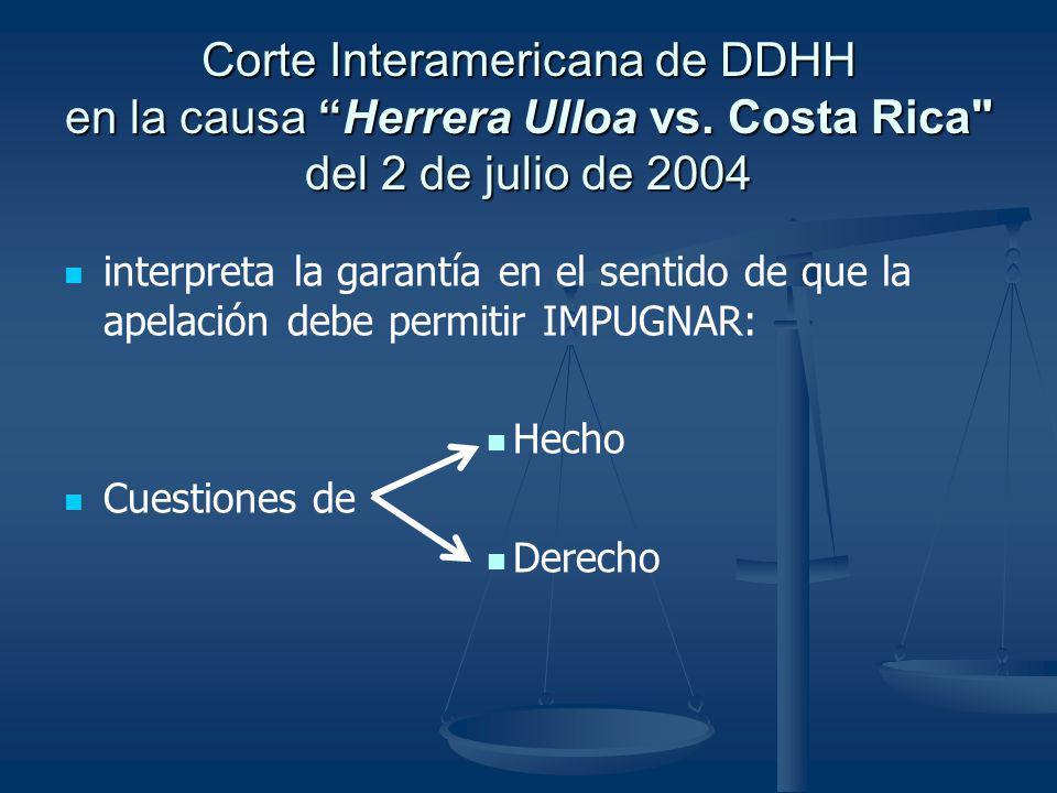 Corte Interamericana de DDHH en la causa Herrera Ulloa vs