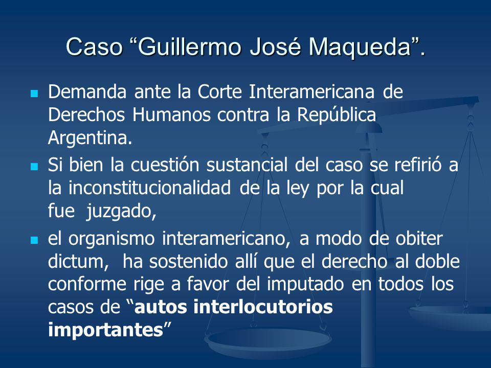 Caso Guillermo José Maqueda .