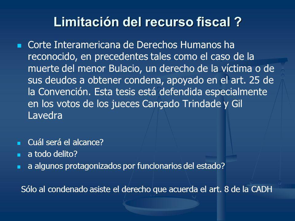 Limitación del recurso fiscal