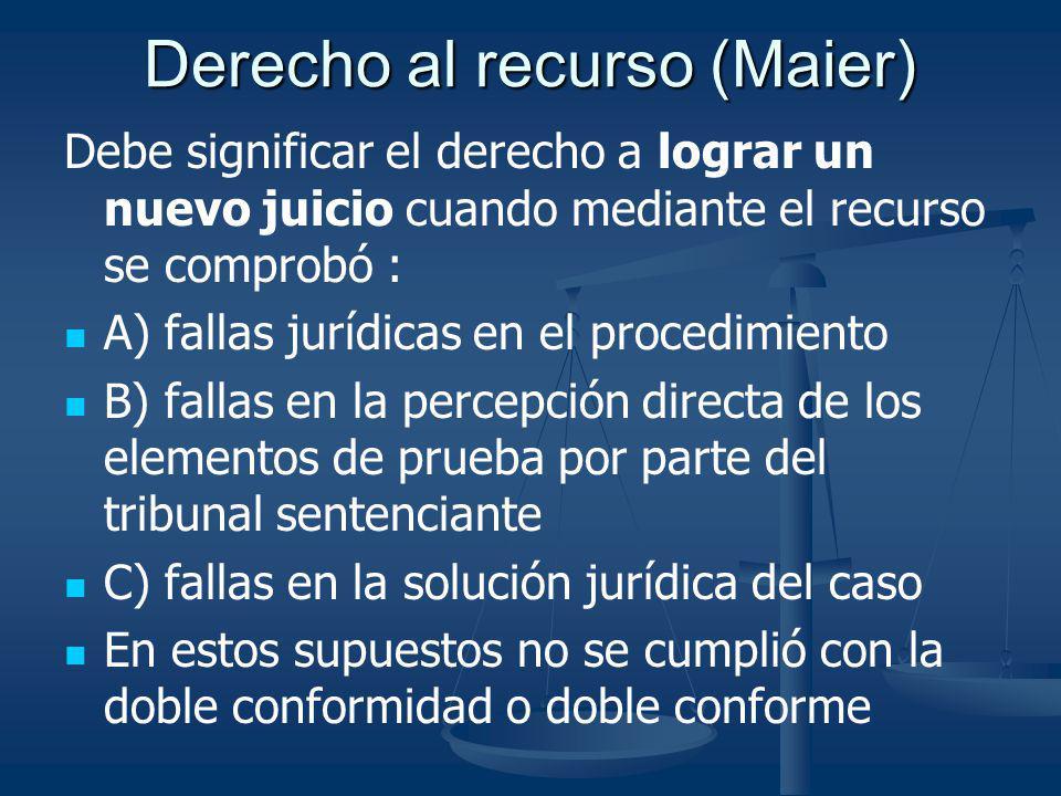 Derecho al recurso (Maier)