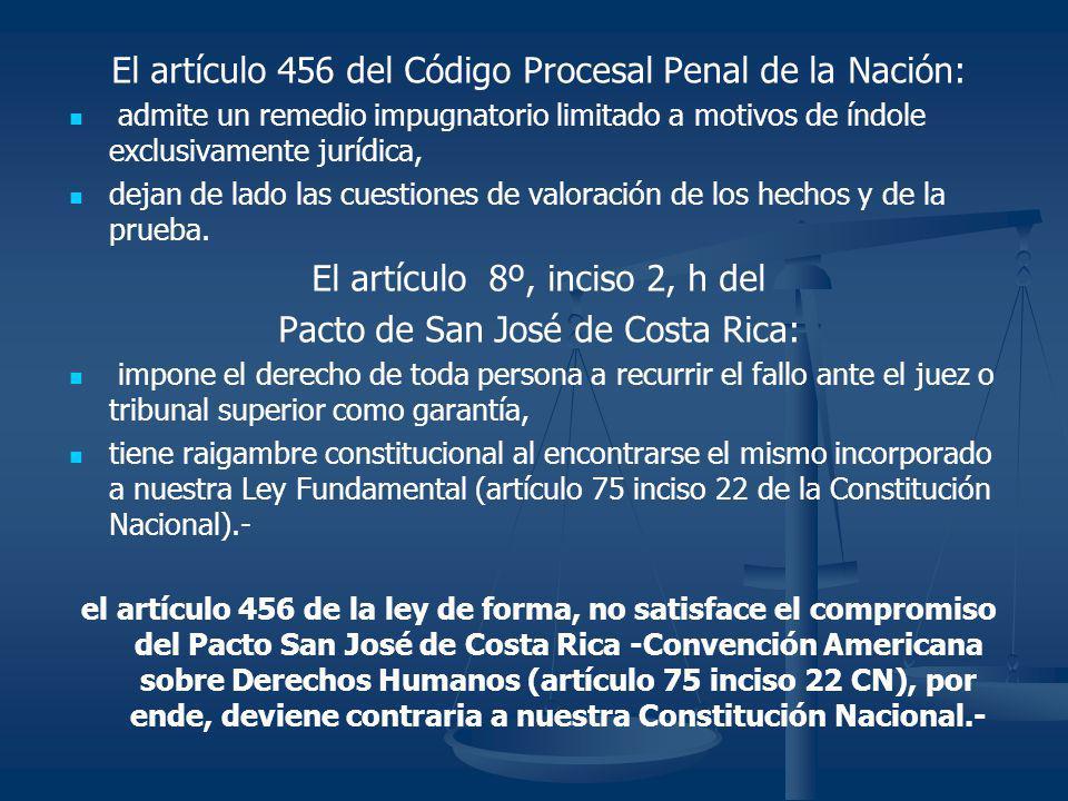 El artículo 456 del Código Procesal Penal de la Nación: