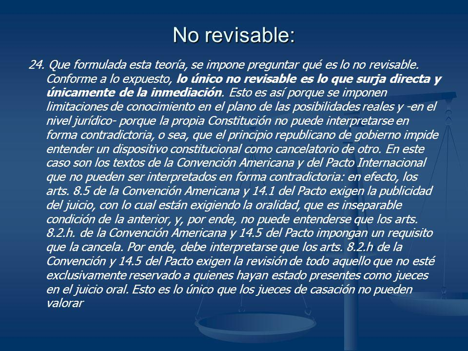 No revisable: