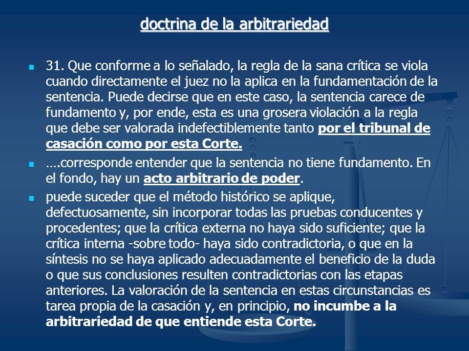 doctrina de la arbitrariedad