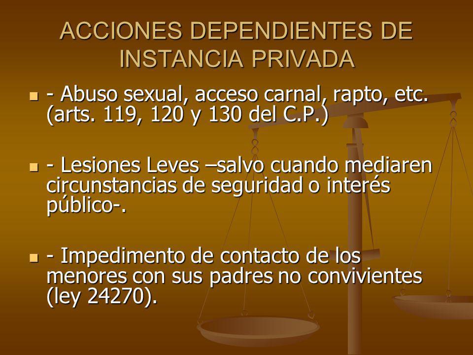 ACCIONES DEPENDIENTES DE INSTANCIA PRIVADA
