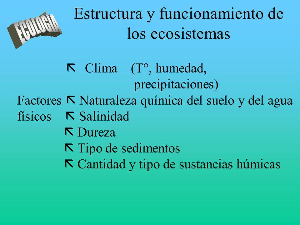 Estructura y funcionamiento de los ecosistemas