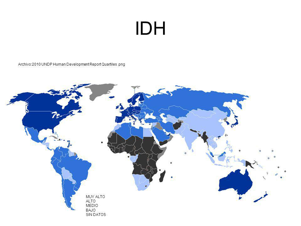 IDH Archivo:2010 UNDP Human Development Report Quartiles .png E