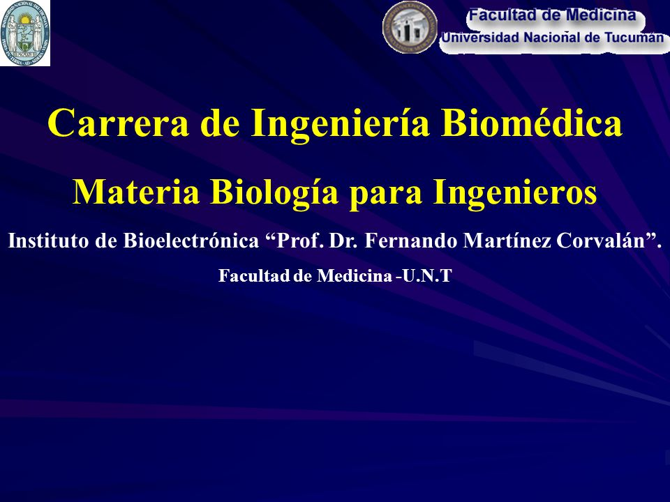 Carrera de Ingeniería Biomédica