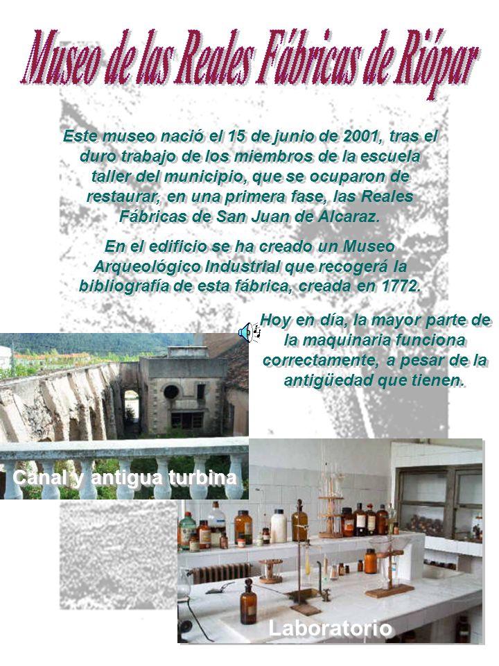 Museo de las Reales Fábricas de Riópar Canal y antigua turbina