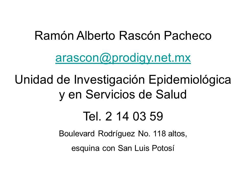 Ramón Alberto Rascón Pacheco arascon@prodigy.net.mx