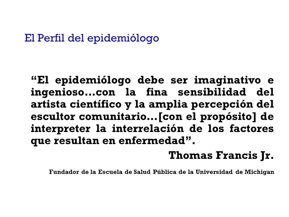 El Perfil del epidemiólogo