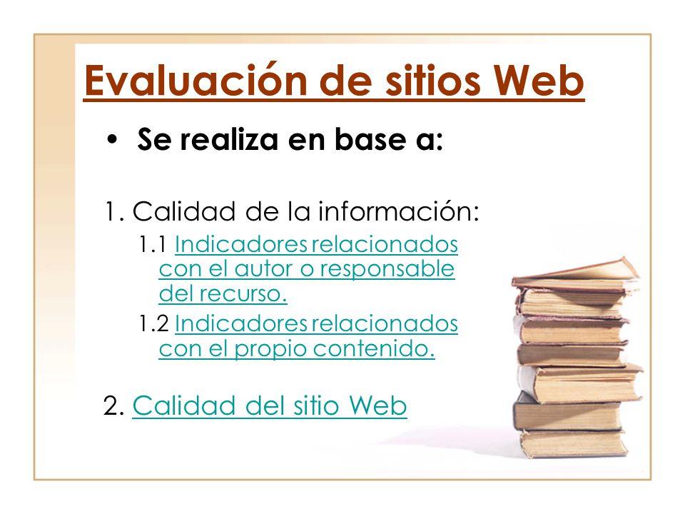 Evaluación de sitios Web