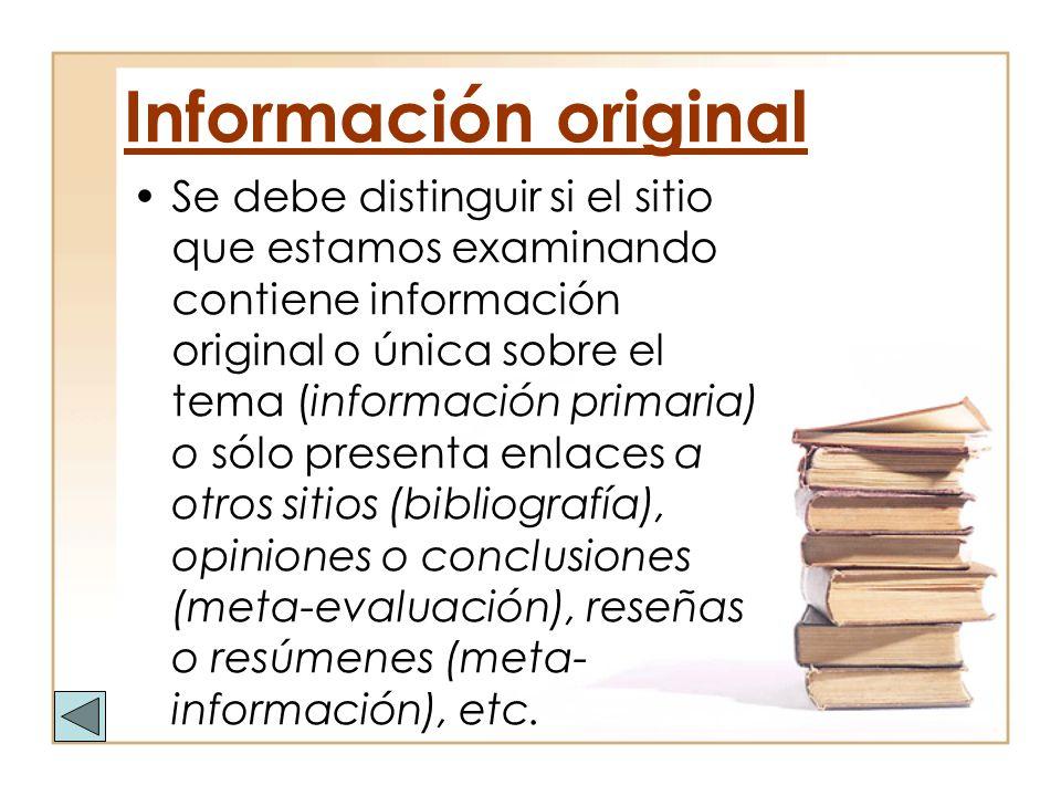 Información original