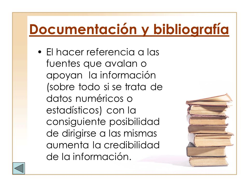 Documentación y bibliografía