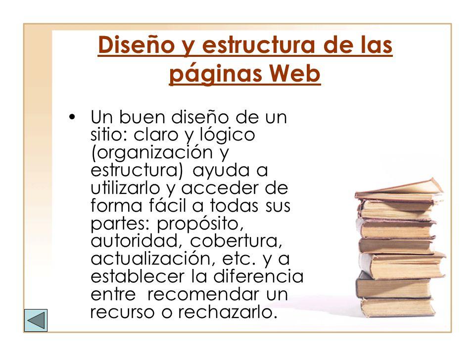 Diseño y estructura de las páginas Web