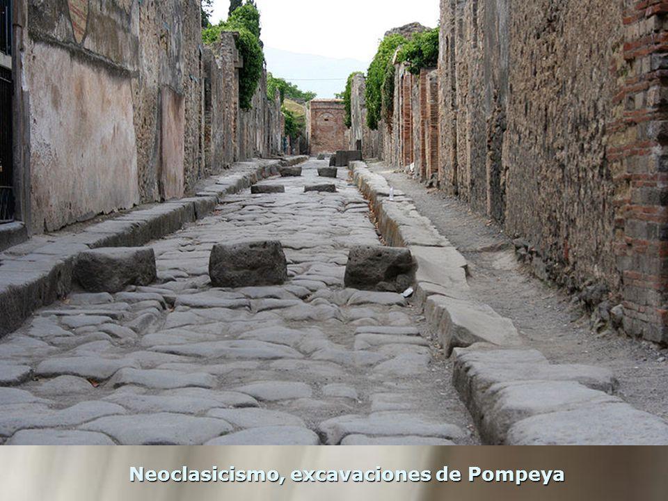 Neoclasicismo, excavaciones de Pompeya