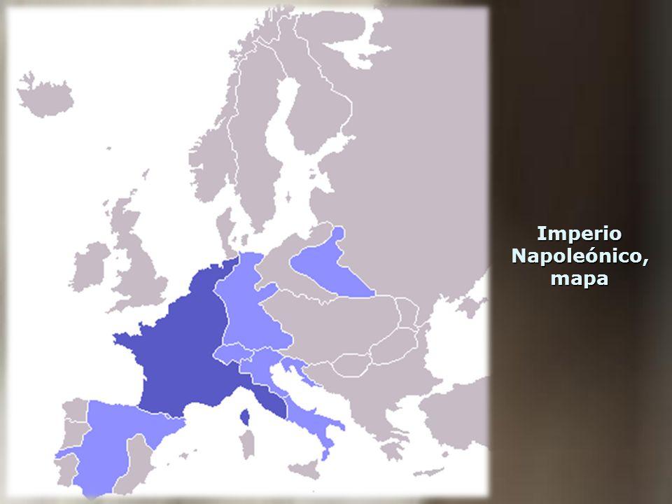 Imperio Napoleónico, mapa