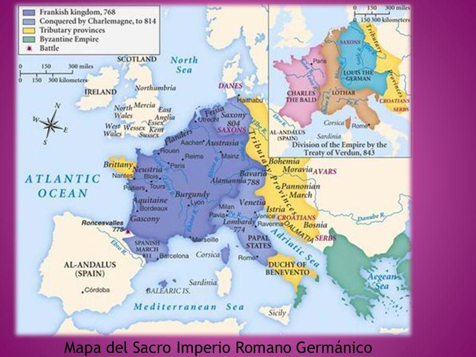 Mapa del Sacro Imperio Romano Germánico