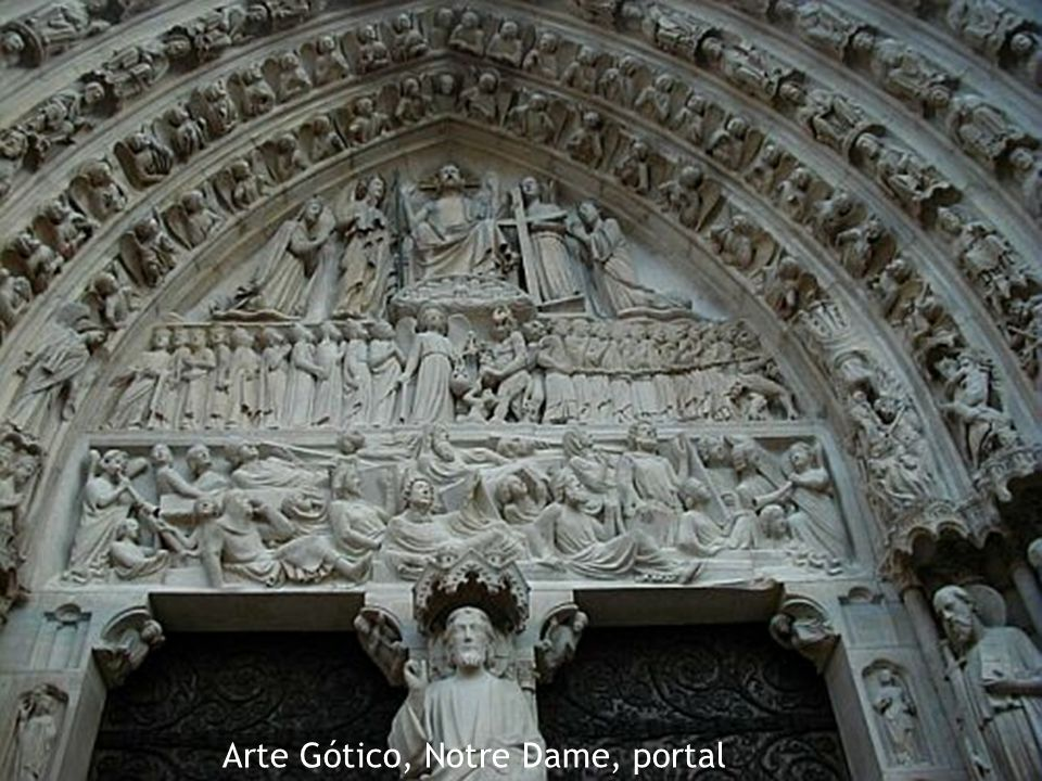Arte Gótico, Notre Dame, portal
